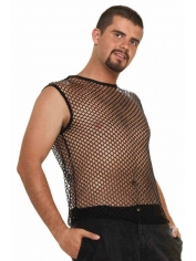 Shirt Fishnet Black - Men's 80's Costumes